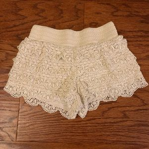 Lace Ruffle Shorts